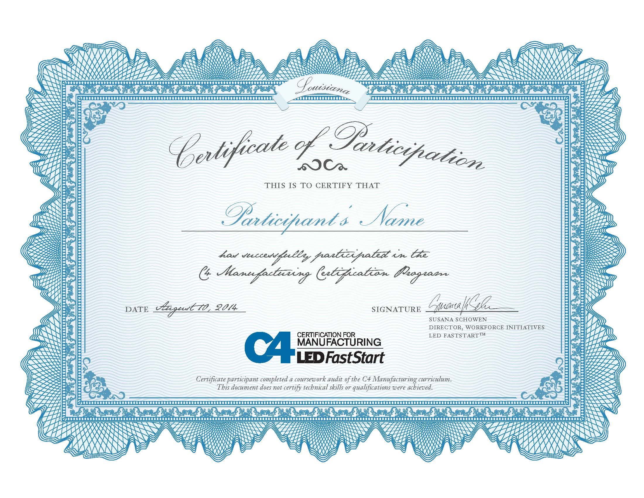 Certification for manufacturing c4m c4manufacturing certificate xflitez Gallery