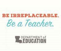 Be Irreplaceable. Be A Teacher. 300x250 Web Banner
