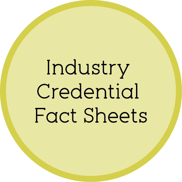 Industry Credential Fact Sheets