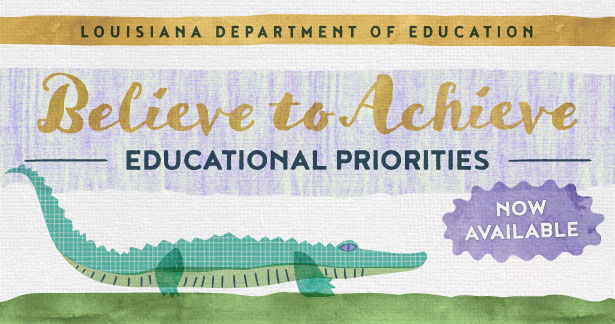 Believe to Achieve Educational Priorities (Now Available)