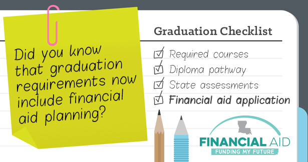 Did you know that graduation requirements now include financial aid planning?